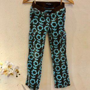 Mini Boden Flowered Corduroy Girls UK9Y Pants